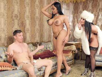 Moriah Mills and Romi Rain: Auction Cock