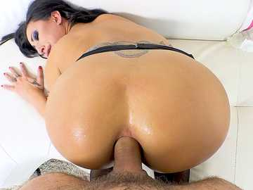 Buxom Lily Lane Buttfucked To Squirting!